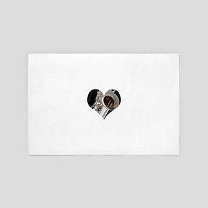 Sax Heart 4' x 6' Rug