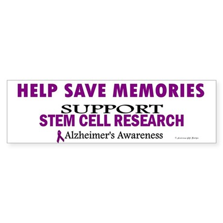 Help Save Memories Bumper Sticker