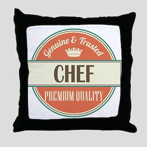 chef vintage logo Throw Pillow
