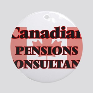 Canadian Pensions Consultant Round Ornament