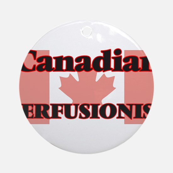 Canadian Perfusionist Round Ornament
