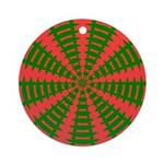 Holiday Pattern 001 Ornament (Round)