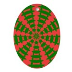 Holiday Pattern 001 Oval Ornament