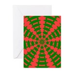 Holiday Pattern 001 Greeting Cards (Pk of 20)