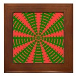 Holiday Pattern 001 Framed Tile