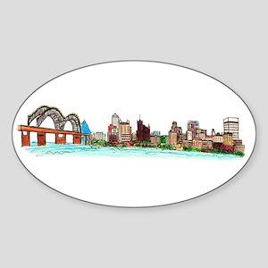 Memphis Skyline Sticker