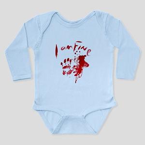 blood Splatter I Am Fine Body Suit
