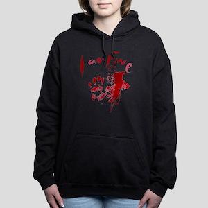 blood Splatter I Am Fine Women's Hooded Sweatshirt