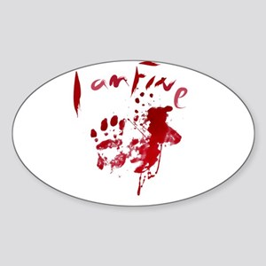 blood Splatter I Am Fine Sticker