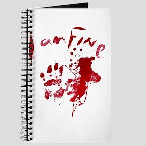 blood Splatter I Am Fine Journal