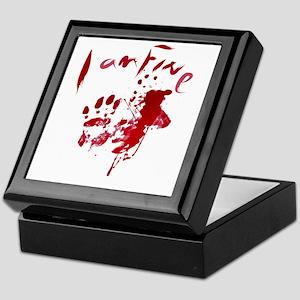 blood Splatter I Am Fine Keepsake Box