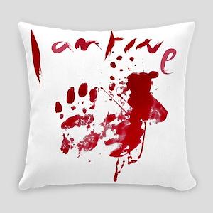 blood Splatter I Am Fine Everyday Pillow
