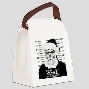 Santa Mugshot Canvas Lunch Bag