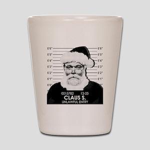 Santa Mugshot Shot Glass
