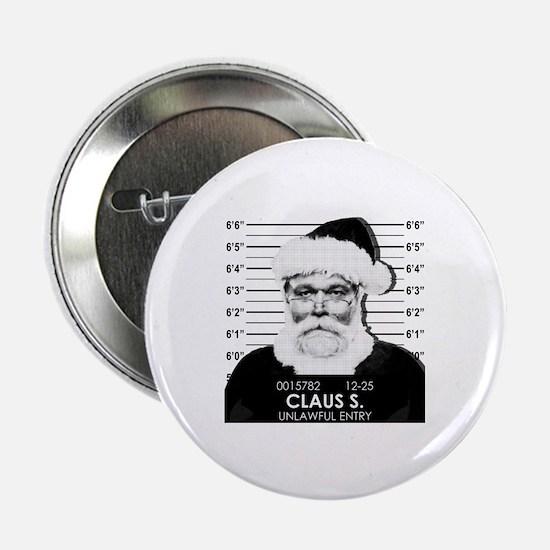 """Santa Mugshot 2.25"""" Button"""