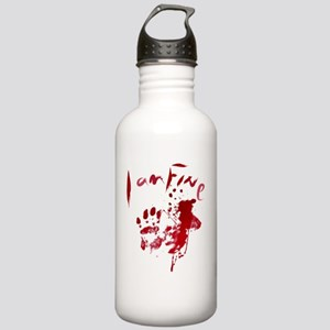 blood Splatter I Am Fi Stainless Water Bottle 1.0L
