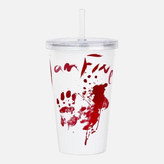 blood Splatter I Am Fi Acrylic Double-wall Tumbler