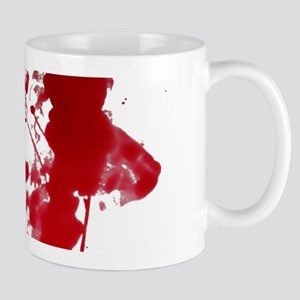 blood Splatter I Am Fine Mugs