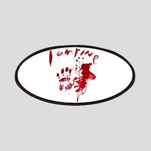 blood Splatter I Am Fine Patch
