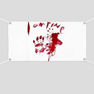 blood Splatter I Am Fine Banner