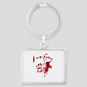 blood Splatter I Am Fine Keychains