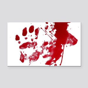 blood Splatter I Am Fine Rectangle Car Magnet