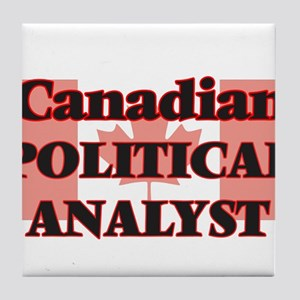 Canadian Political Analyst Tile Coaster