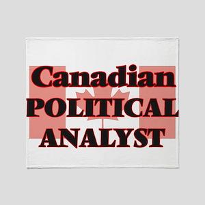 Canadian Political Analyst Throw Blanket
