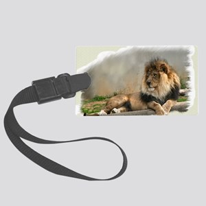 Lion Lovers Art Large Luggage Tag
