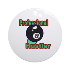 Pro 8 Ball Hustler Round Ornament