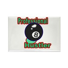 Pro 8 Ball Hustler Rectangle Magnet