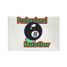 Pro 8 Ball Hustler Rectangle Magnet