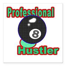 Pro 8 Ball Hustler Square Car Magnet 3