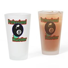 Pro 8 Ball Hustler Drinking Glass