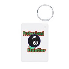 Pro 8 Ball Hustler Aluminum Photo Keychain