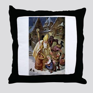 Krampus 005 Throw Pillow