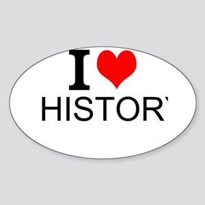 I Love History Sticker