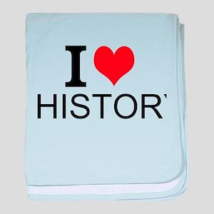 I Love History baby blanket