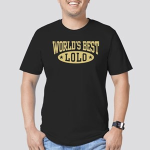World's Best Lolo Men's Fitted T-Shirt (dark)