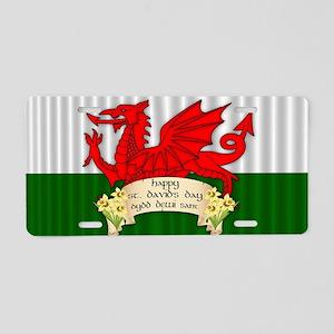 Welsh Flag St. David's Day, Aluminum License P