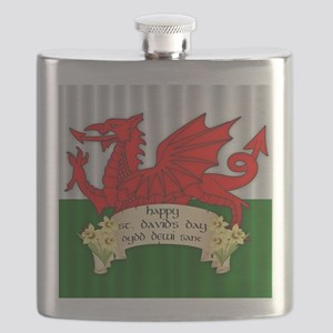 Welsh Flag St. David's Day, Flask