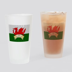 Welsh Flag St. David's Day, Drinking Glass