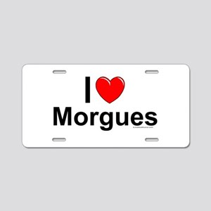 Morgues Aluminum License Plate