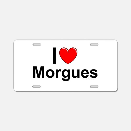 Morgues Aluminum License Plate