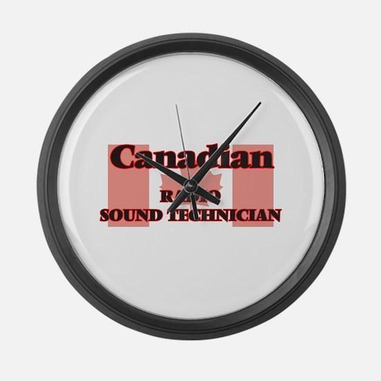 Canadian Radio Sound Technician Large Wall Clock