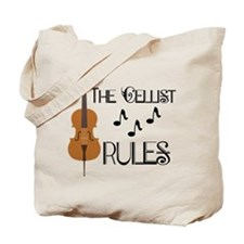 Cello Music Cellist Rules Tote Bag