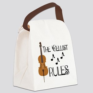 Cello Music Cellist Rules Canvas Lunch Bag