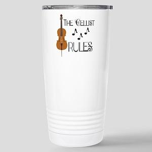 Cello Music Cellist Rules Travel Mug
