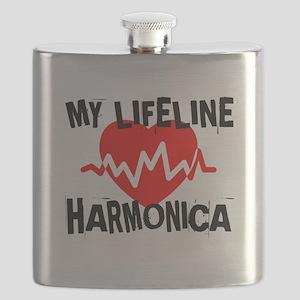 My Life Line Harmonica Music Flask
