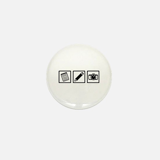 Journalist equipment Mini Button